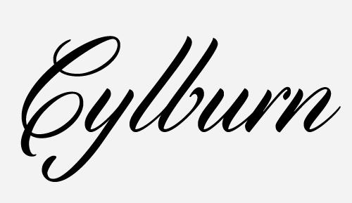 cylburn script font