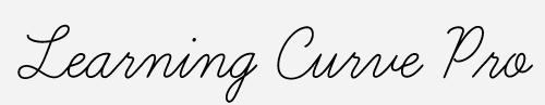 learning curve pro script font