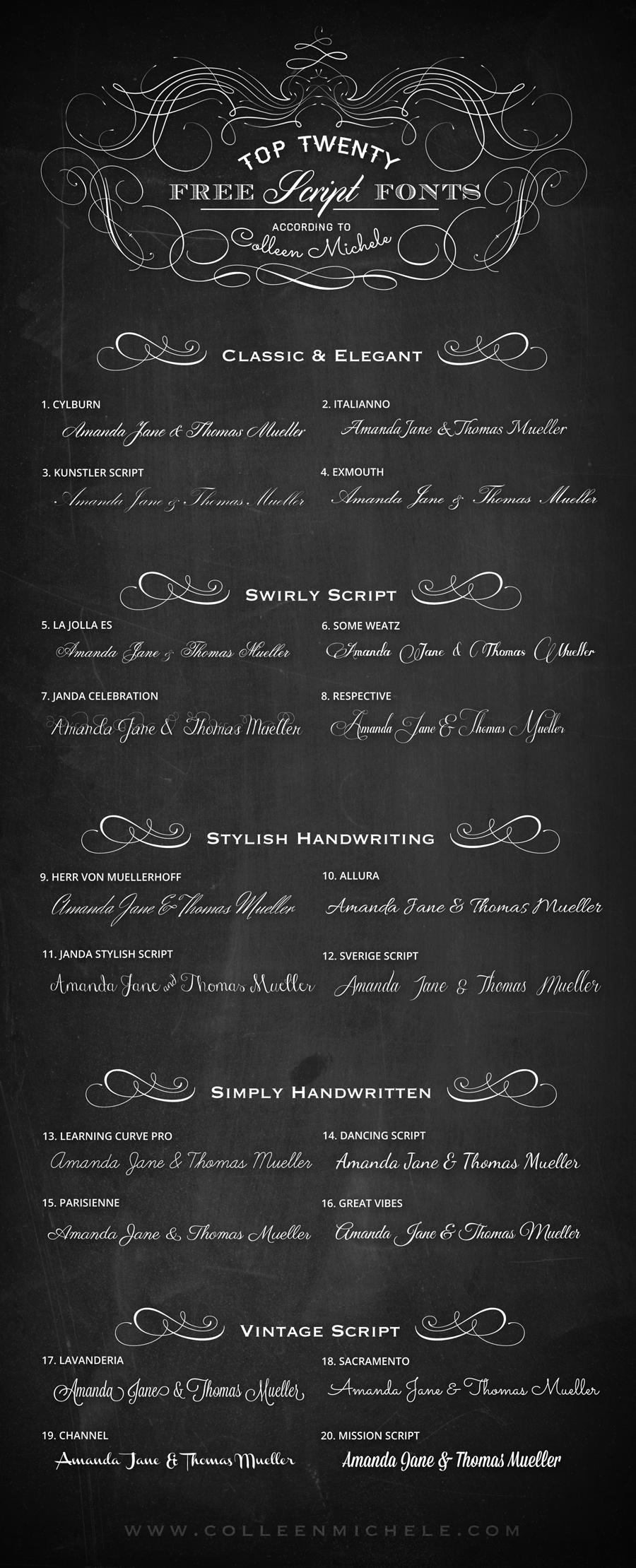 Top 20 Free Wedding Script Fonts