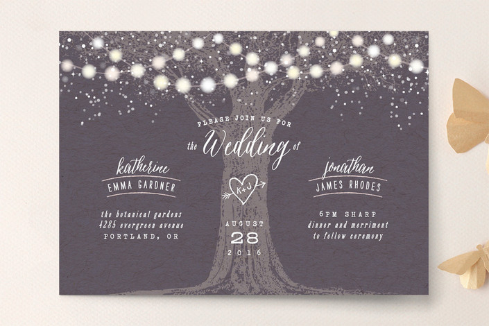 Garden Lights Wedding Invitation by hooray creative for Minted