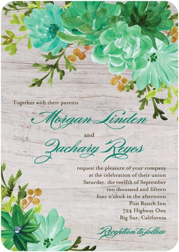 11 lush summer wedding invitation ideas, Wedding invitations