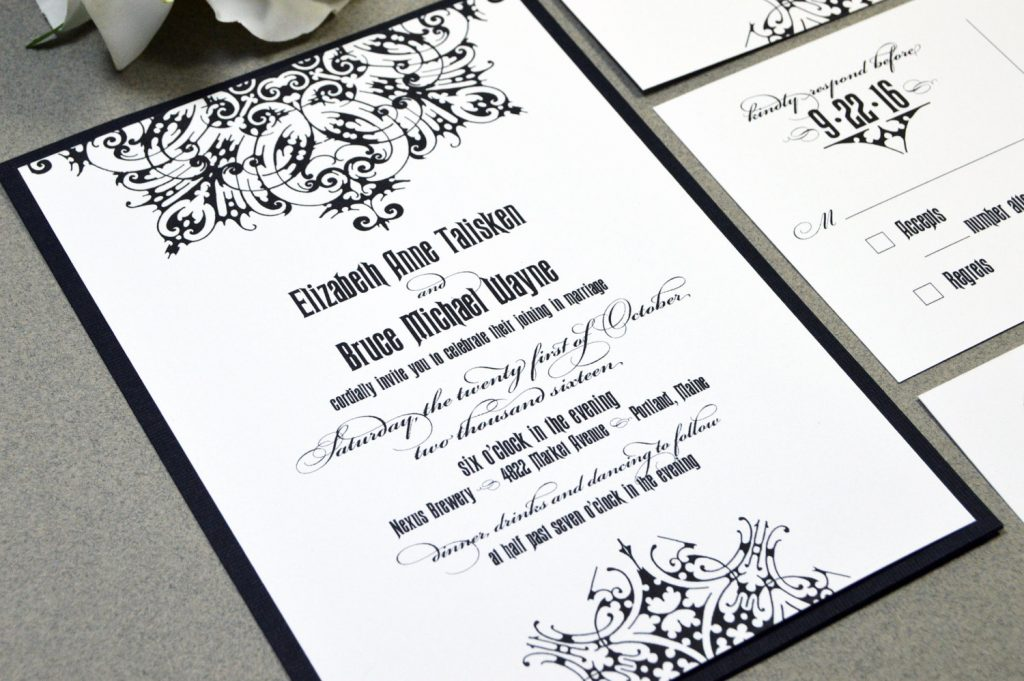 medieval gothic wedding invitation suite from etsy - Medieval Wedding Invitations