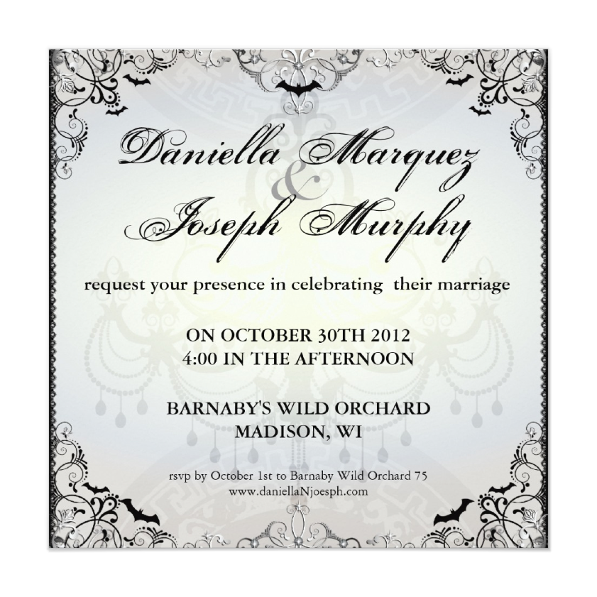 Dark and Debonair Invitations for Gothic Weddings