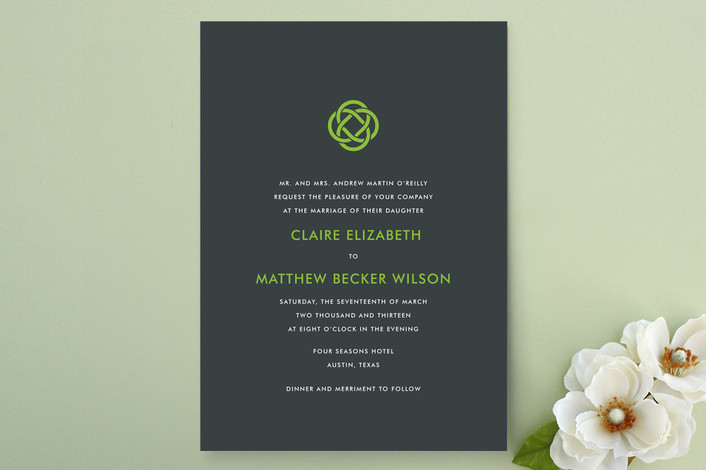 if youre going for modern simplicity this is absolutely the celtic knot invitation - Celtic Wedding Invitations