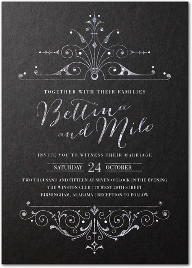 dark and debonair: invitations for gothic weddings, Wedding invitations