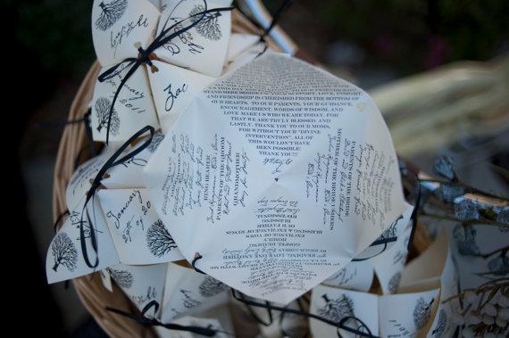 Fortune Teller Wedding Programs from etsy