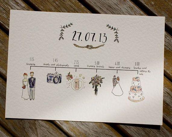 Illustrated Wedding Schedule