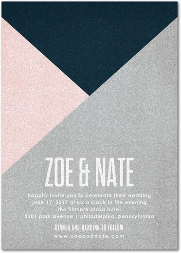 Krafty Angles Geometric Wedding Invitations