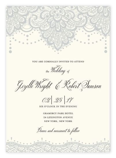 8 Lovely Lace Wedding Invitations Ideas for Romantic Weddings – Lace for Wedding Invitations
