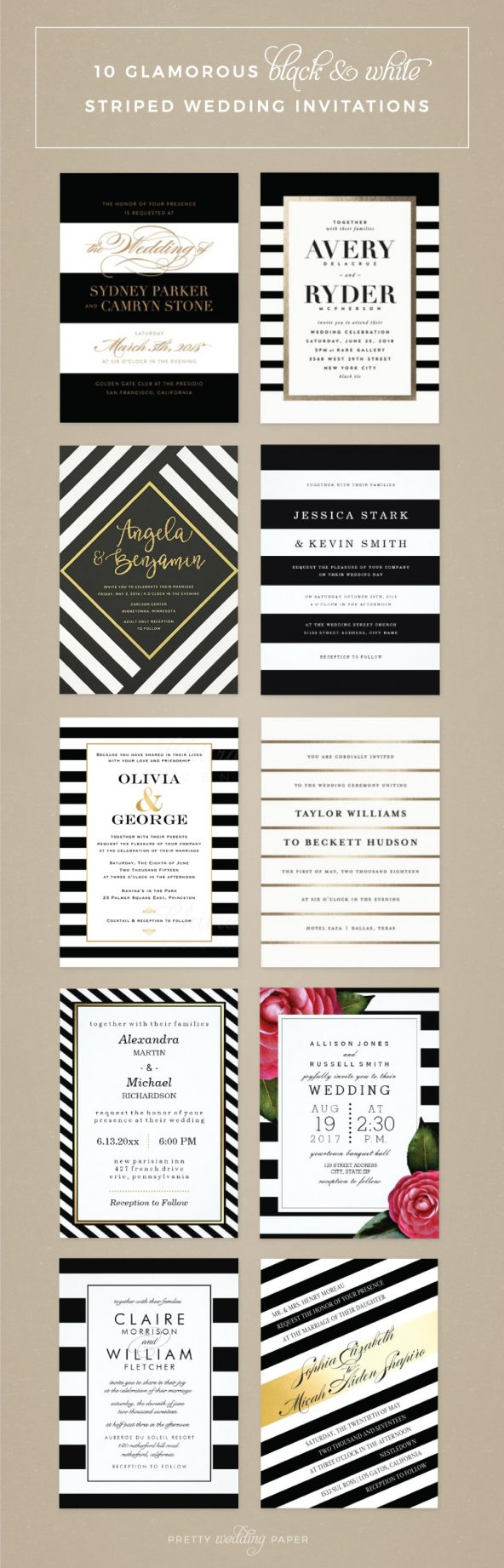 Beautiful Pretty Wedding Paper