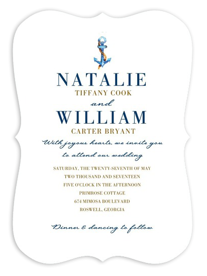Nautical Wedding Invitations 12 Beautiful AnchorThemed Designs