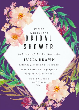 7 luscious tropical bridal shower invitations lets luau tropical floral wreath bridal shower invitations filmwisefo