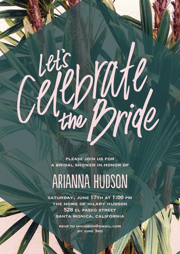 7 luscious tropical bridal shower invitations lets luau tropical green bridal shower invitations filmwisefo