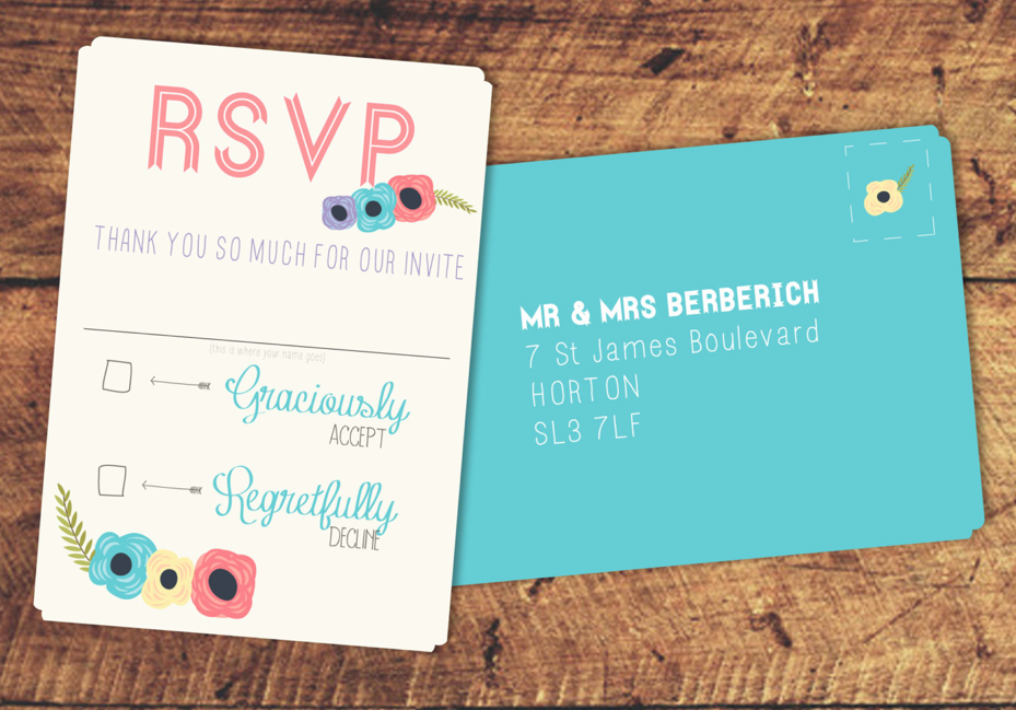 These simple RSVP postcards from Etsy are super easy for guests to fill out - just a name a check required!