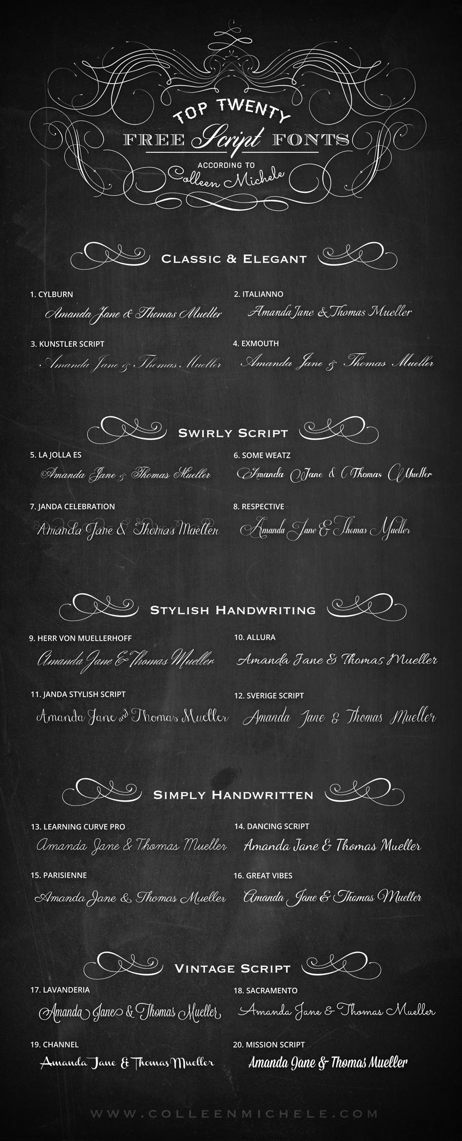 top twenty free wedding script fonts