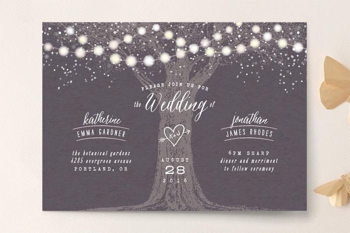 Garden Lights Wedding Invitation by hooray creative for Minted