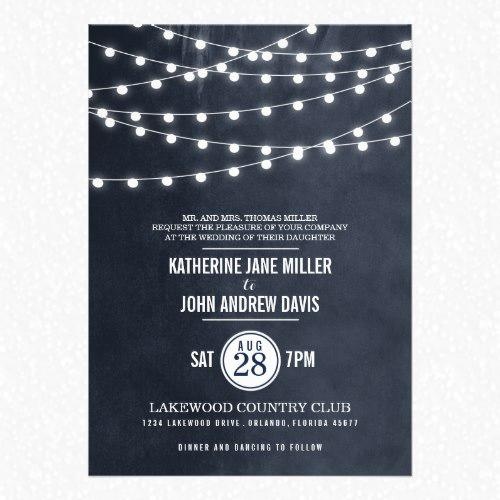 Summer Lights Wedding Invitations by riley & zoe for Zazzle
