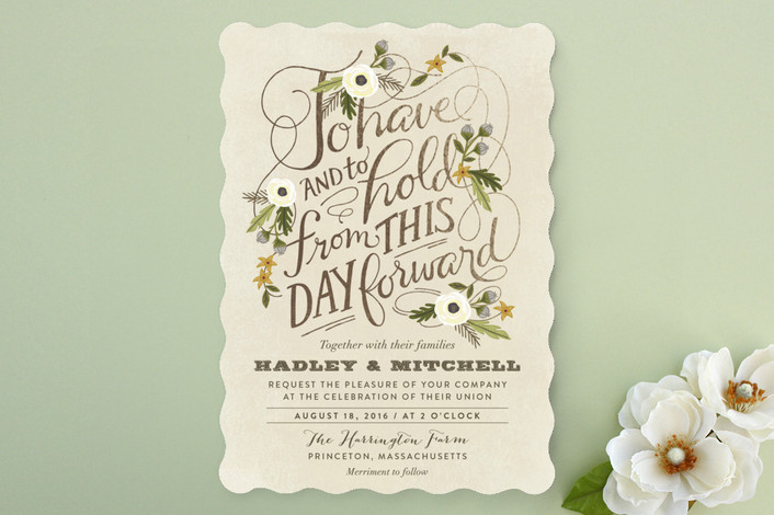 Most Popular Wedding Invitations: The Most Beautiful Fall Wedding Invitations