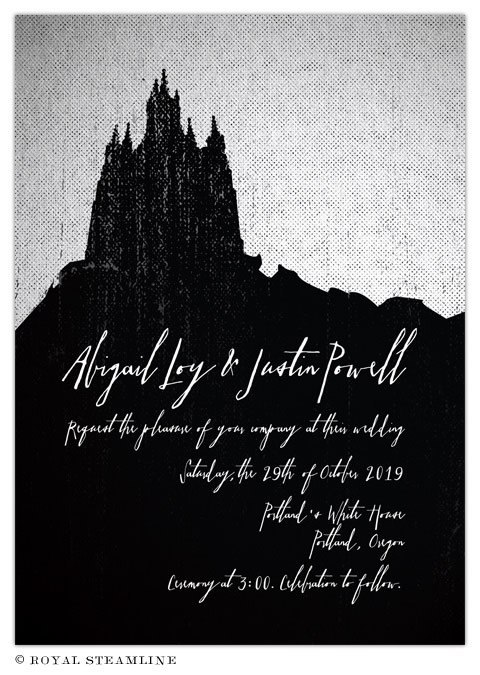 Dark and Debonair: Invitations for Gothic Weddings