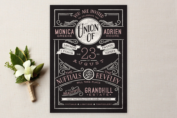 Romantic Revelry Wedding Invitation from Minted