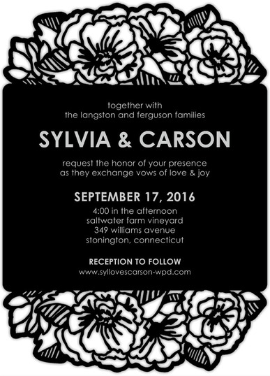 Laser-Cut Peony Perfection Wedding Invites from Wedding Paper Divas