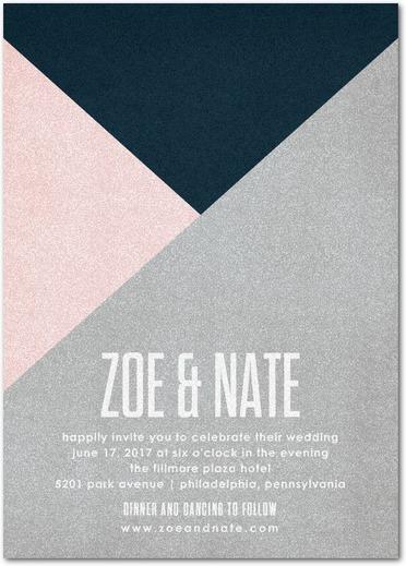 Krafty Angles Geometric Wedding Invitations