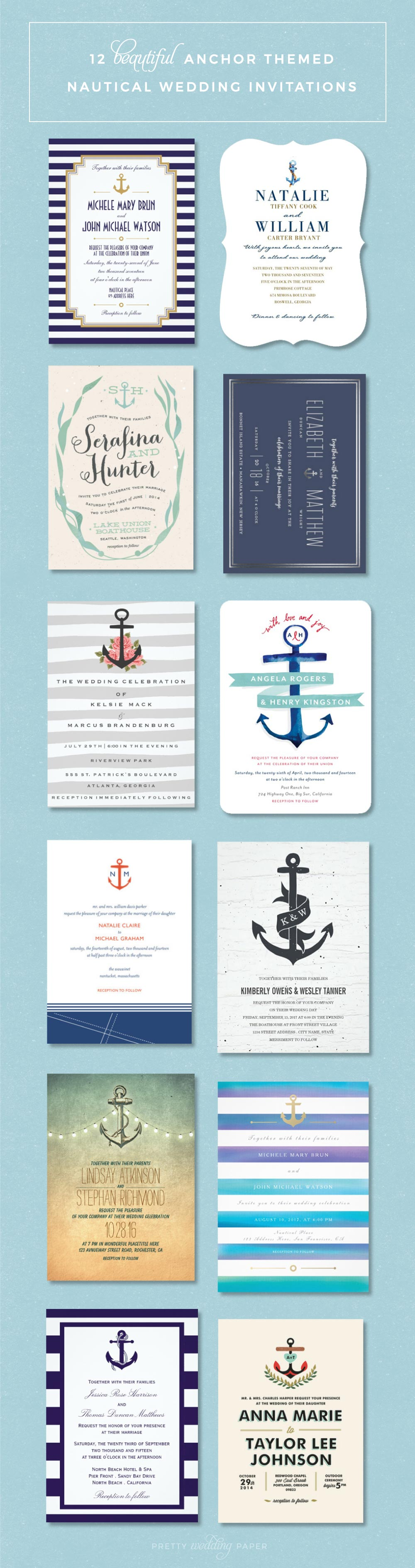 nautical wedding invitations 12 beautiful anchor themed designs