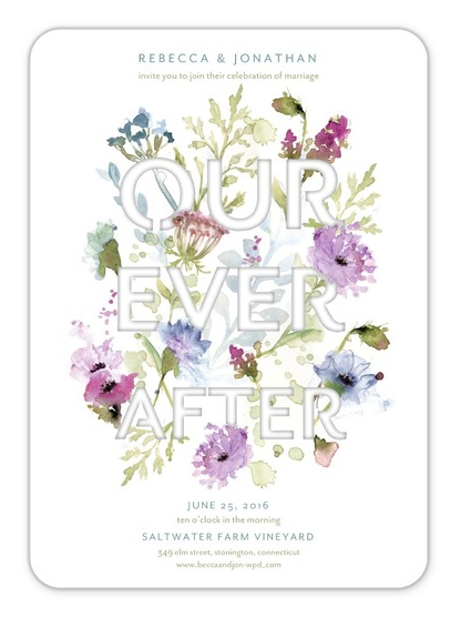Laser-cut Floral Boho Wedding Invitations from Wedding Paper Divas: Our Ever After