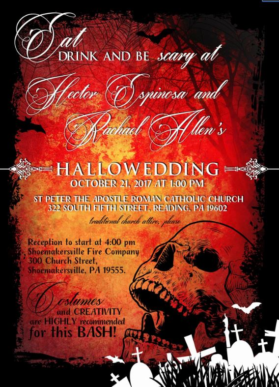 Hallowedding Halloween Wedding Invitations